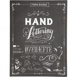 Cahier exercices caligraphie « lettering » écriture à la main A4 dim. 21x28 cm 63 pages (vendu à l'unité)