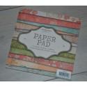Bloc papier Scrap  Carterie - 15 cm x 15 cm  PAPER PAD REF PPSL09