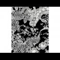Papier décopatch, imprimé dentelle blanche sur fond noir, vendue à l'unité,  30 x 40 cm