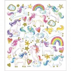Planche Stickers  licornes...