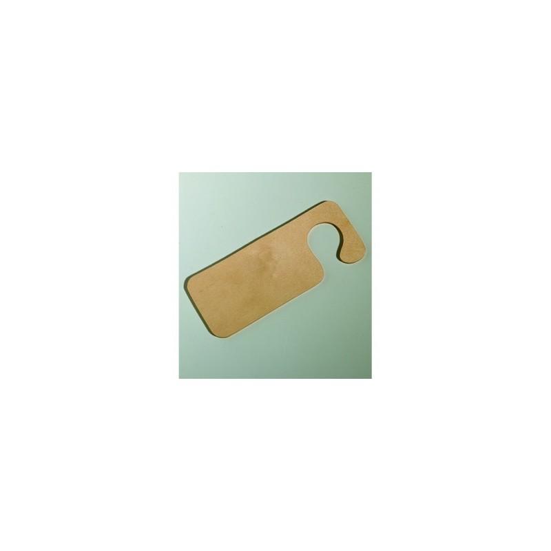 Plaquette en bois signalitique porte