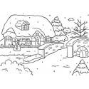 Plaque de Texture  à relief, embossage classeur paysage d'hiver (10,5 x 15cm)