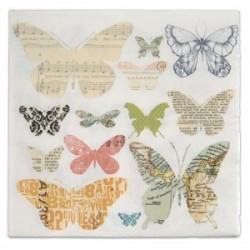 Serviette en papier : Papillons Voyage (vendue à l'unité)