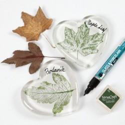 """Tampon Clear """"feuilles"""" viva décor, set 11 motifs différents"""