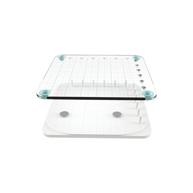 Presse de Précision, kit avec Base en mousse + Aimants + Bloc d'estampage en acrylique + Base d'estampage