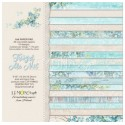 "Bloc papier Scrap 36 Feuilles 18 designs 15 x 15 cm  Collection ""Forget me not""  LemonCraft Assortiment 170 gr"