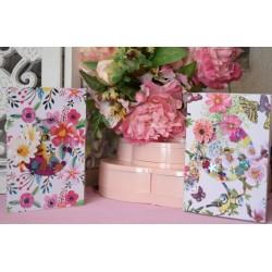 Papier Scrap Double  30x30 cm Lorelay Design collection Esprit Bucolique : Marguerite 1 feuille avec imprimé RectoVerso