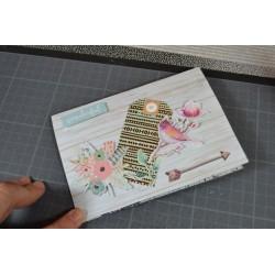 Bloc papier Scrap Pivoine menthe 15 x 20 cm Bloc 28 feuilles assorties