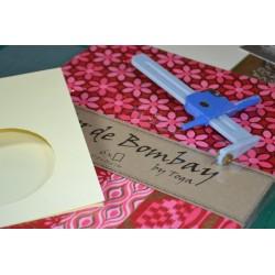 Bloc papier Scrap 6 Feuilles  Collection L'Or de Bombay Fushia/Rouge/Or  TOGA (Papier Recyclé)