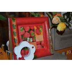 Cadre Carré carton photo/tableau  (26x26x2,5cm /I 16x16cm)