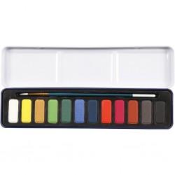 Set de peinture Aquarelle, dim. 12x30 mm, Couleurs assorties, 1Pq