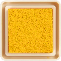 mini tampon encreur usage scrap carterie papier jaune