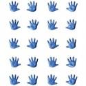 Attaches Parisiennes Mini Mains (couleur : Bleu) (sachet de 20)