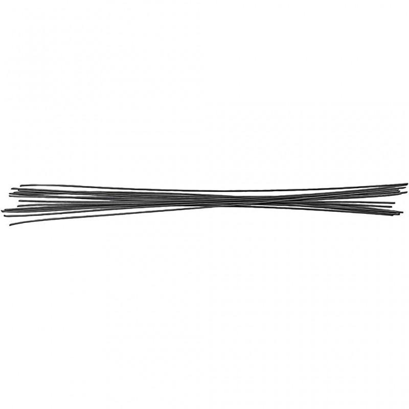 Tiges métalliques du fleuriste 0.5mm 20 cm 10 pièces