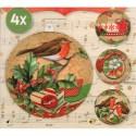Film Rétractable Manchon pour 4 boules de Noël 8cm Petit Classic Christmas