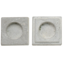 Moule pour Bougie Chauffe-plat forme carré (2 pièces)  Dimensions 7cm x 7cm pour Décorations