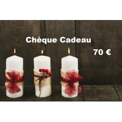 Chèque Cadeau valeur 70 €...