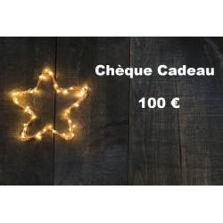 Chèque Cadeau valeur 100 €...
