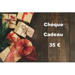 Chèque Cadeau valeur 35 €...