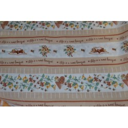 "Tissu coton ""life is a sweet bouquet""  Coupon 1,04 m x 0.70 cm"
