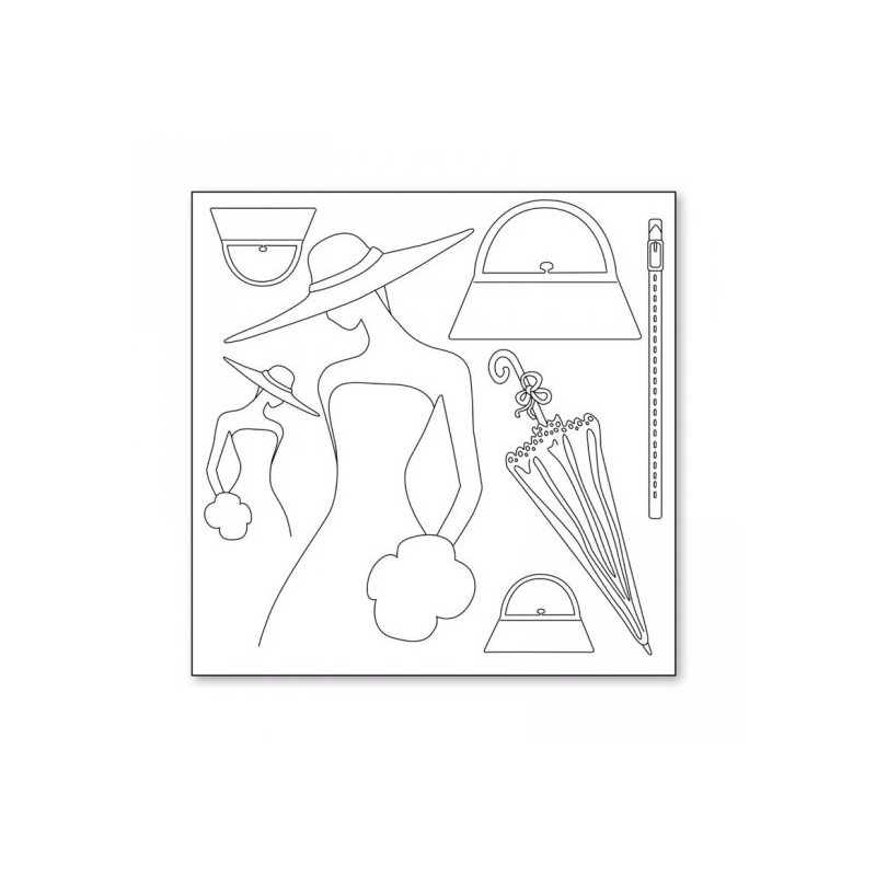 Papier feuille de riz 50x50 Dreaming Lady découpage déco stampéria