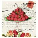 serviette en papier fraises Regina 25x 25 cm