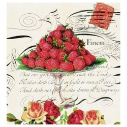 serviette en papier fraises...