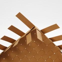 bande de tressage imitation cuir beige clair, L 9.5m