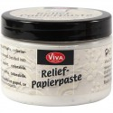 Pâte de structure Viva relief moyenne coloris blanc ANTIQUE pot 150 ml