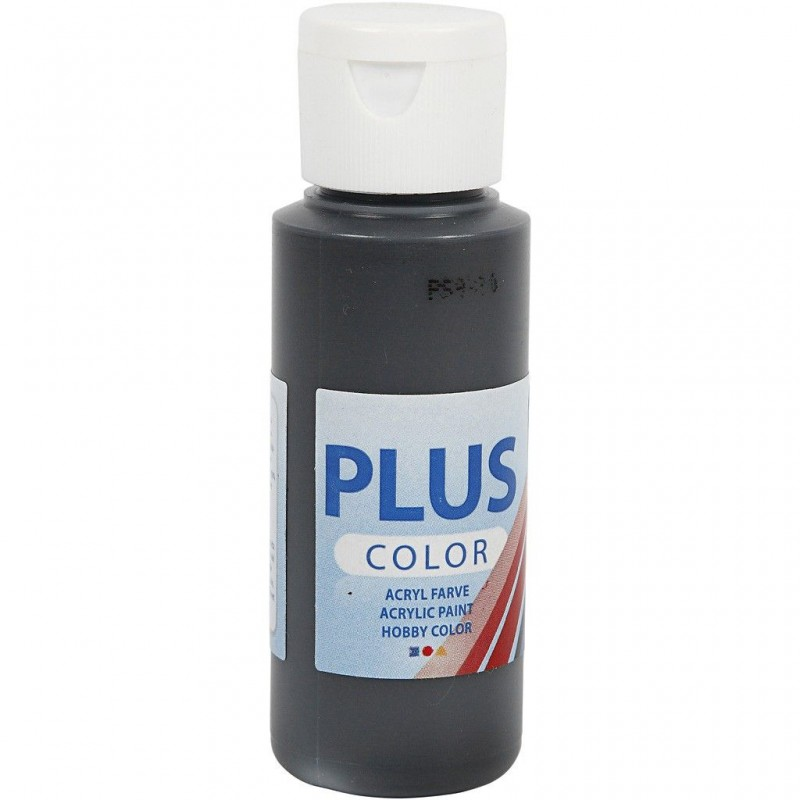 Peinture acrylique couvrante Color Plus Noir Black, 59 ml