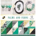 Bloc papier Scrap Exotique Palm And Ferns 30x30cm 36pg
