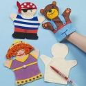 Marionnette à main tissu 100% coton  à customiser, 1 pièce