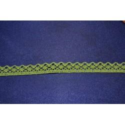 Ruban Petit galon dentelle aux fuseaux mécaniques vert longueur 1 m x 15 mm