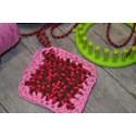 Tawashi ZPAGETTI jersey éponge vaisselle rose chiné réutilisable zéro déchet ≈ 10x10cm