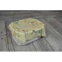 "Mon SacCreaExpress :  Kit ""Bee Wrap"" imprimé Lama, 20 cm x 20 cm"