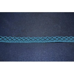 Ruban Petit galon dentelle aux fuseaux mécaniques bleu soutenu longueur 1 m x 15 mm