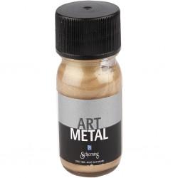 peinture art métal, coloris : or foncé,  Contenance  :  pot 30 ml