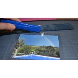Feuille transparente plastique  épais 0.25 micron, A3 effet holographique (vendue à l'unité)