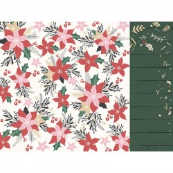 papier scrap double, pointtetias, NOEL, carte, album, Kaisercraft Peppermint Kisses' Fun & Festive