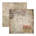 Papier Scrap double 30x30 VINTAGE 'Ciao Bella' Time To Leave