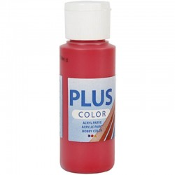 Peinture acrylique Plus Color rouge Crimson Red, couvrante, 60 ml