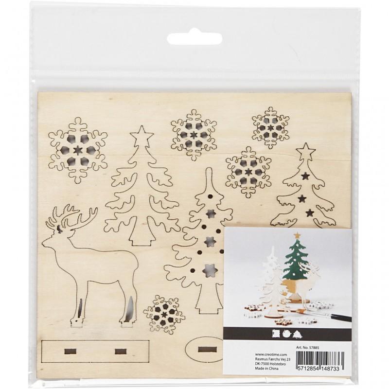 Miniatures figurines en bois prédécoupé Paysage Le grand cerf