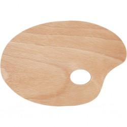 Palette ovale en bois...