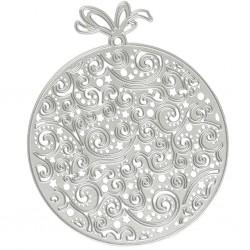 Matrice de Découpe en métal Boule ajourée de NOEL 1 pièce 9cm