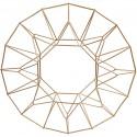 Support décoration Couronne de NOEL en laiton à décorer D28 cm