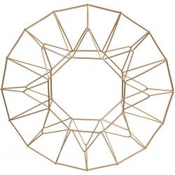Support décoration Couronne de NOEL en laiton à décorer Ø28 cm