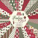 Bloc pochette papier 24pg Scrap Festive Folly de PAPER ADDICTS 30x30cm