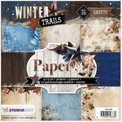 Bloc 36 feuilles 15 x 15 cm - Winter Trails 98