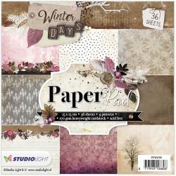 Bloc 36 feuilles 15 X 15 CM - Winter Days Rose Paper Pad