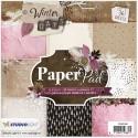 Bloc 36 feuilles 15 X 15 CM - Winter Days Rose Marron